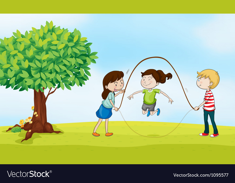 Kids and a tree vector | Price: 3 Credit (USD $3)