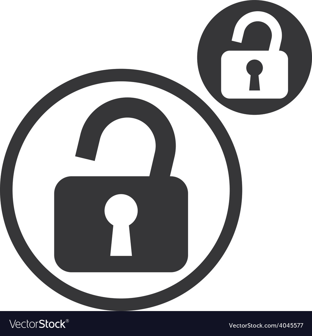 Padlock lock simple single color icon isolated on vector   Price: 1 Credit (USD $1)