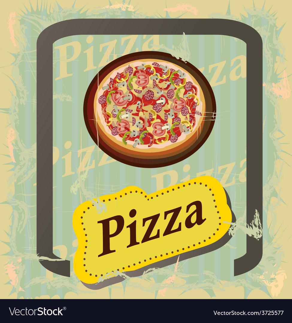 Pizza   menu vector | Price: 1 Credit (USD $1)