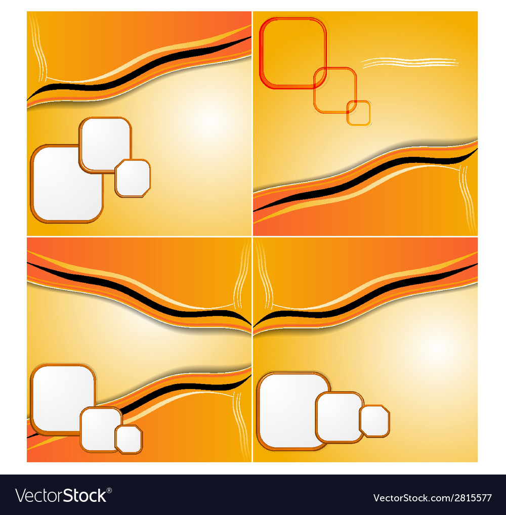 Set of elegant abstract orange background with vector | Price: 1 Credit (USD $1)
