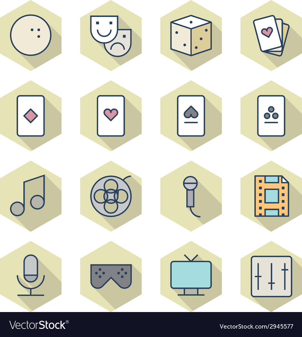 Thin line icons for leisure vector | Price: 1 Credit (USD $1)