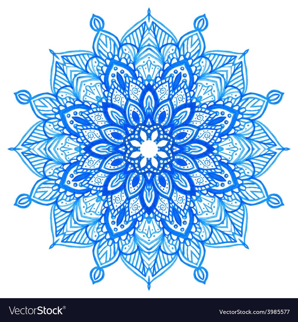 Watercolor hand drawn mandala vector | Price: 1 Credit (USD $1)