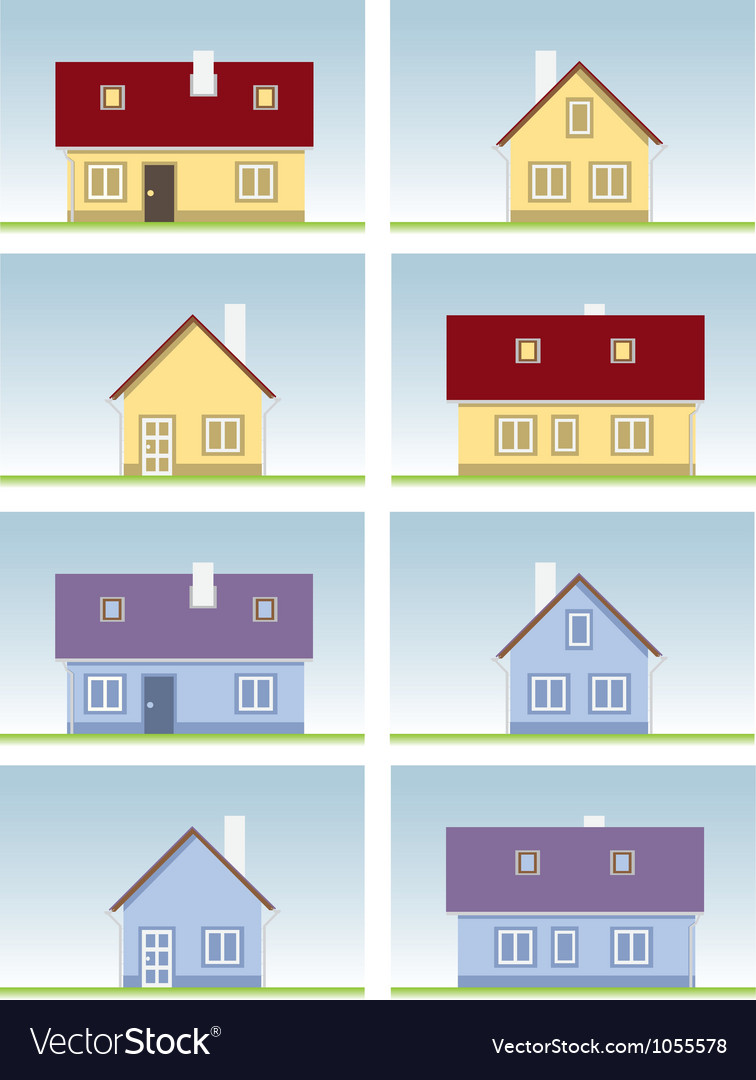 Architectural house vector | Price: 1 Credit (USD $1)