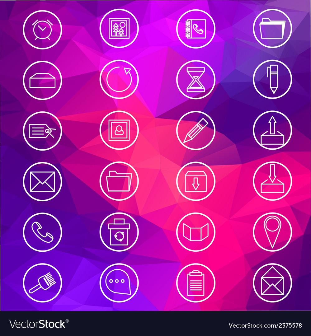 Basic web icons vector | Price: 1 Credit (USD $1)