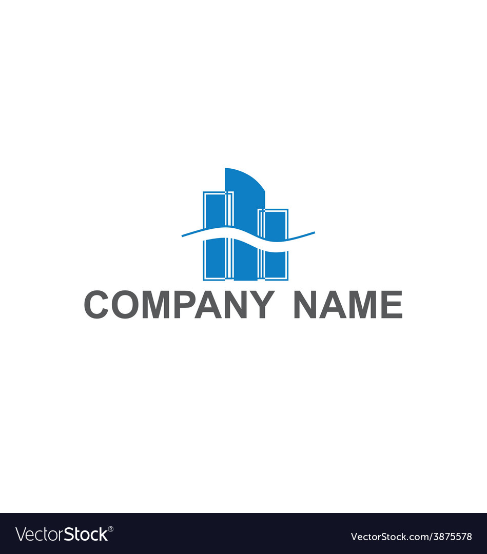 Building company logo vector | Price: 1 Credit (USD $1)