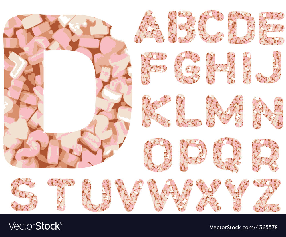 Candy alphabet letters - hand drawn font with vector   Price: 1 Credit (USD $1)
