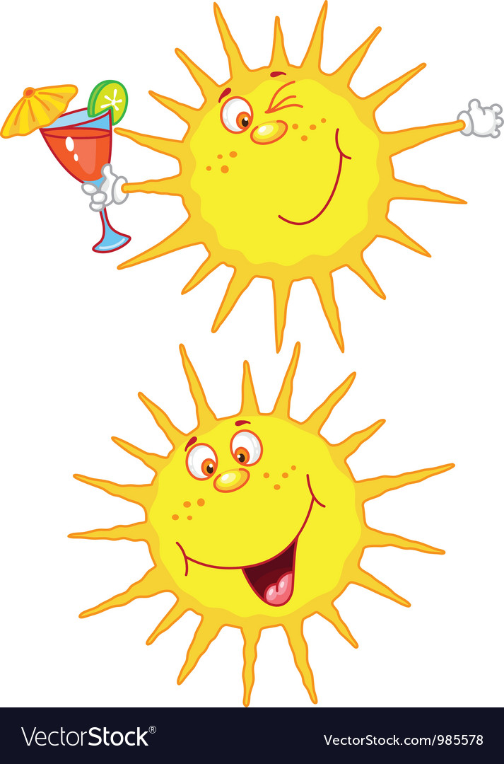 Cheerful sun vector | Price: 1 Credit (USD $1)