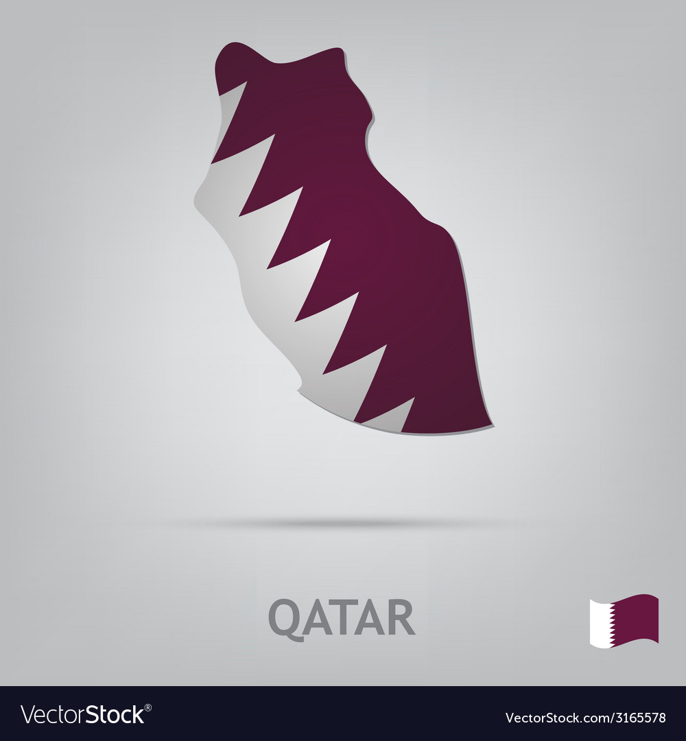 Country qatar vector | Price: 1 Credit (USD $1)