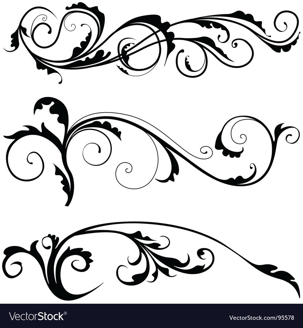 Floral decoration vector | Price: 1 Credit (USD $1)