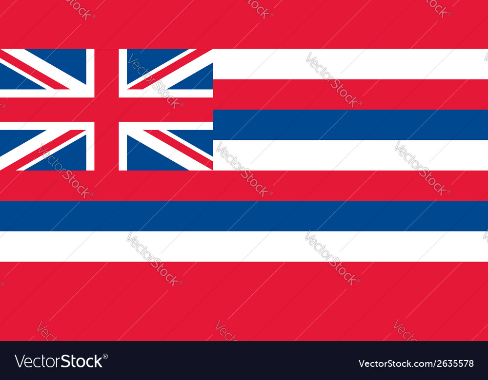 Hawaii flag vector | Price: 1 Credit (USD $1)