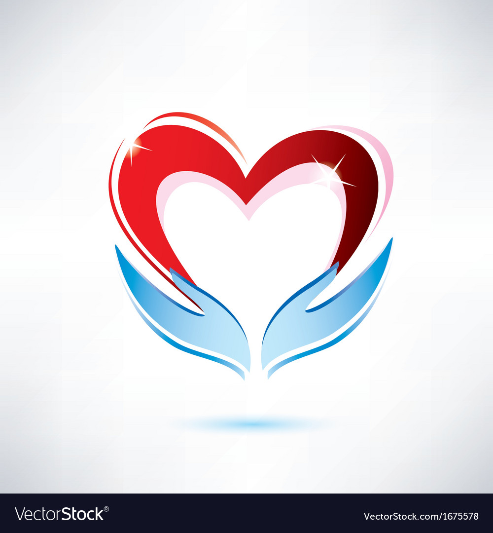 Heart and hand vector | Price: 1 Credit (USD $1)