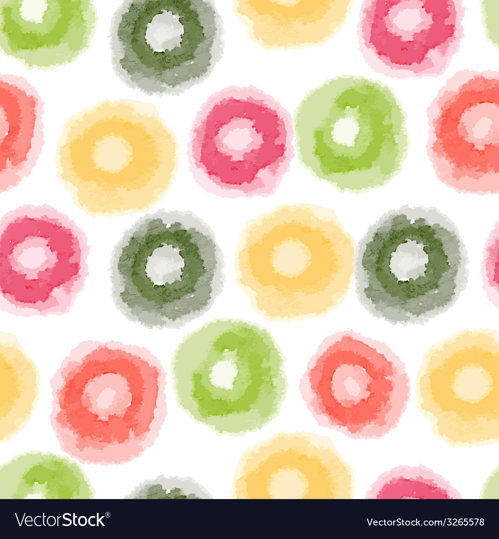 Seamless watercolor dots pattern vector | Price: 1 Credit (USD $1)