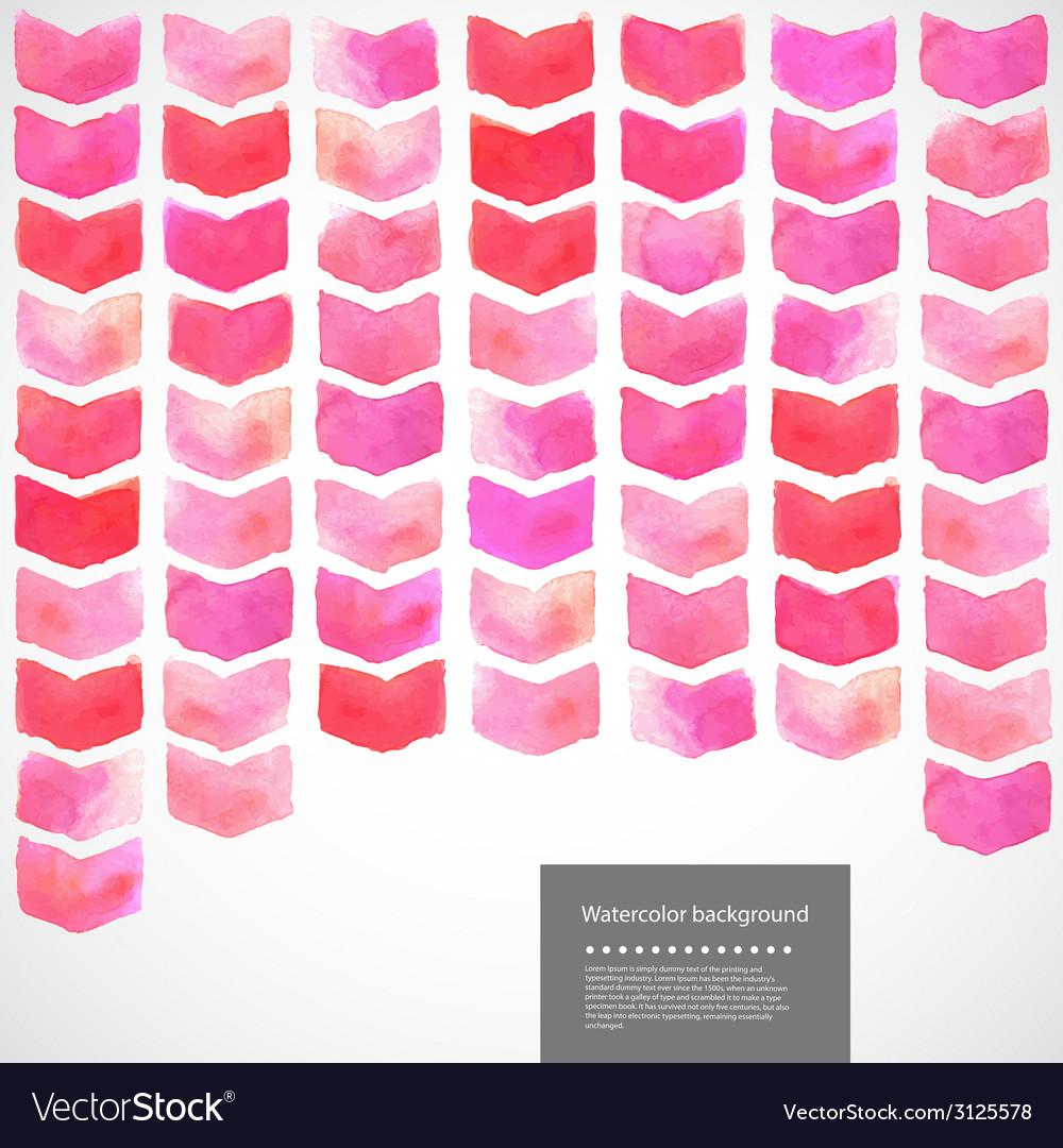 Watercolor geometric chevron vector | Price: 1 Credit (USD $1)