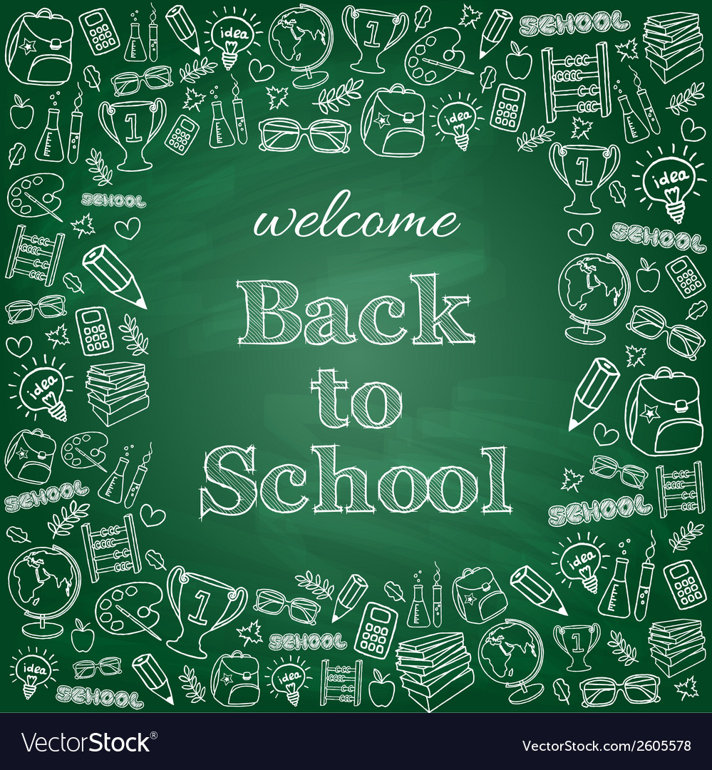Welcome back to school card vector | Price: 1 Credit (USD $1)