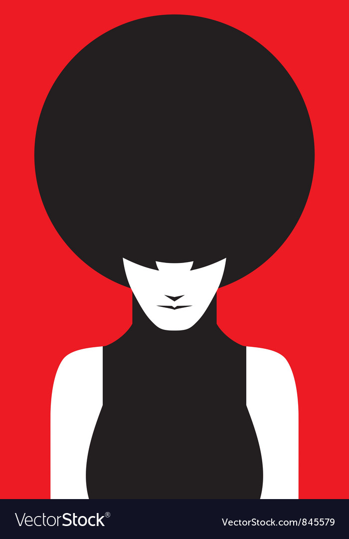 Afro lady vector | Price: 1 Credit (USD $1)