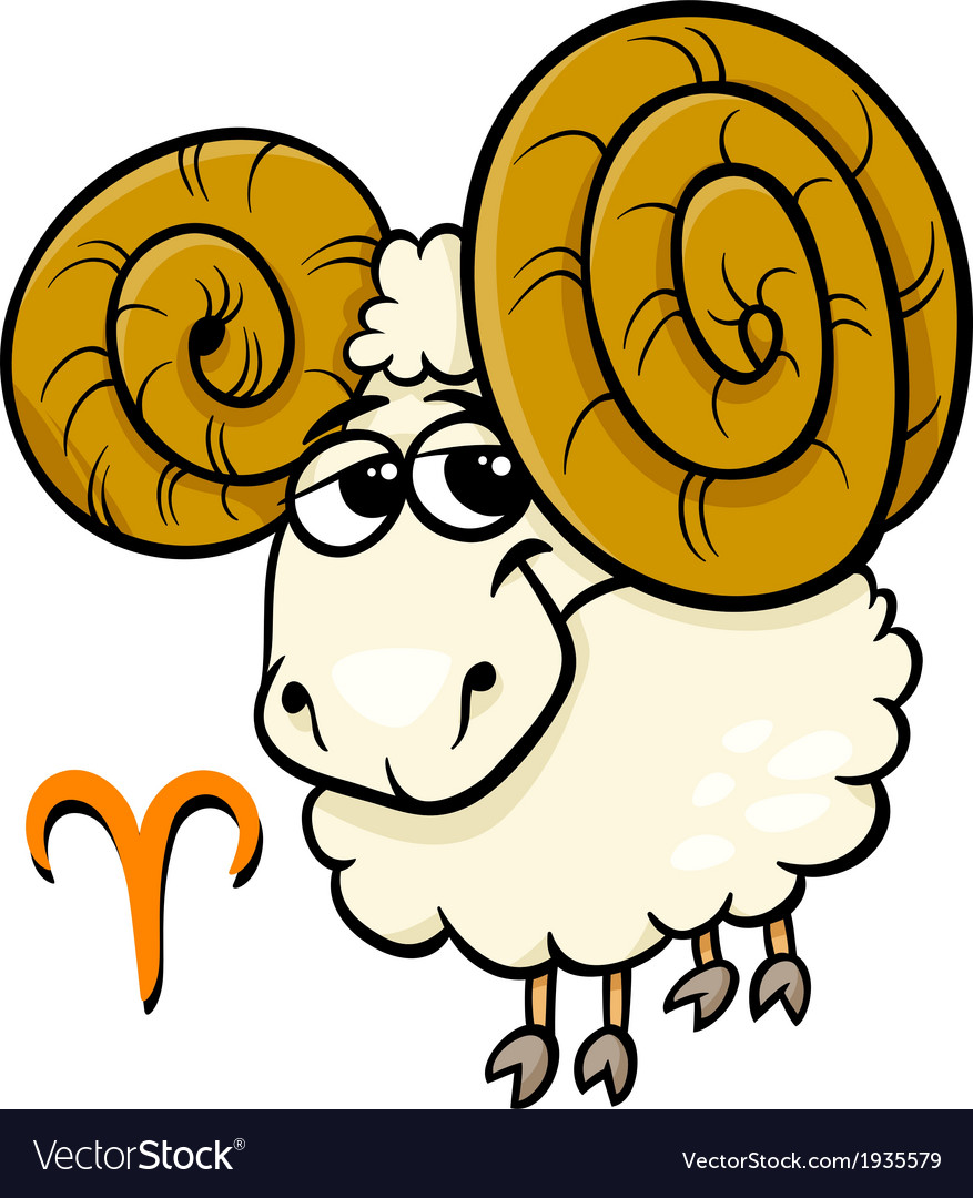 Aries or the ram zodiac sign vector | Price: 1 Credit (USD $1)