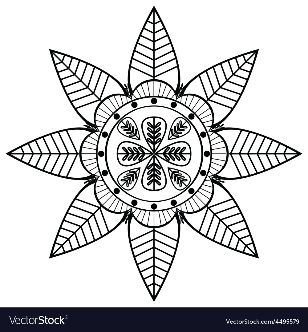 Asian flower shape with 8 leaves inspired vector | Price: 1 Credit (USD $1)