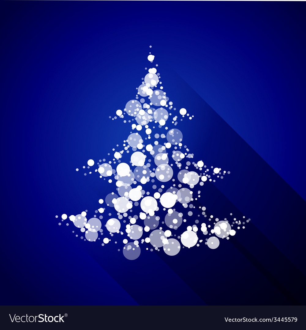 Christmas tree made of light particles flat design vector | Price: 1 Credit (USD $1)