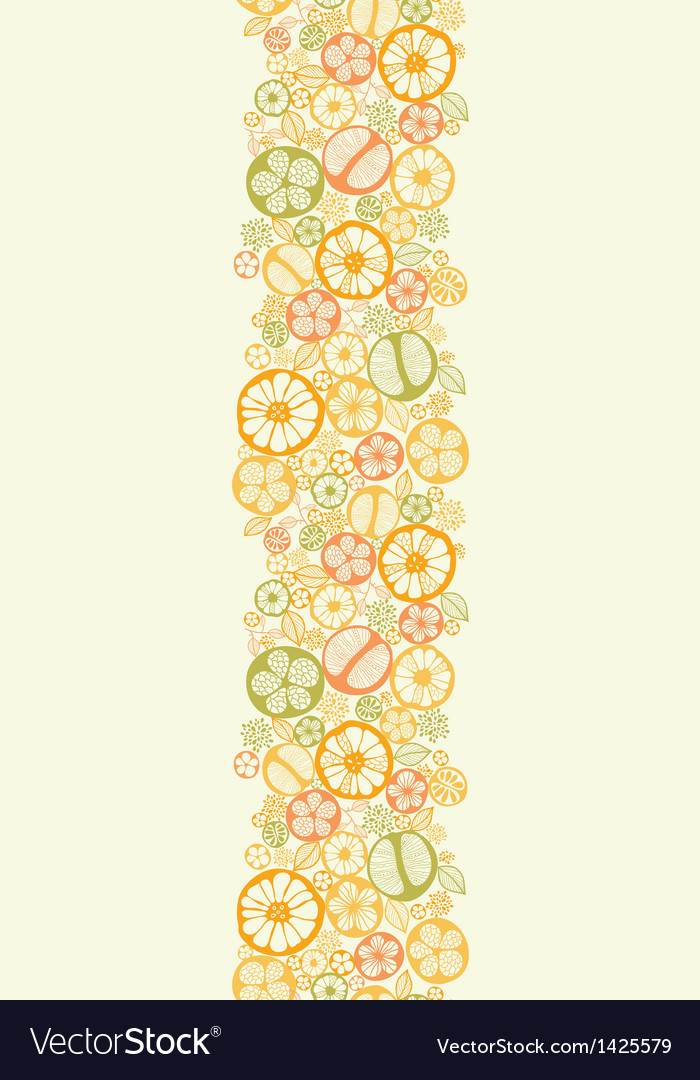 Citrus slices vertical seamless pattern background vector | Price: 1 Credit (USD $1)