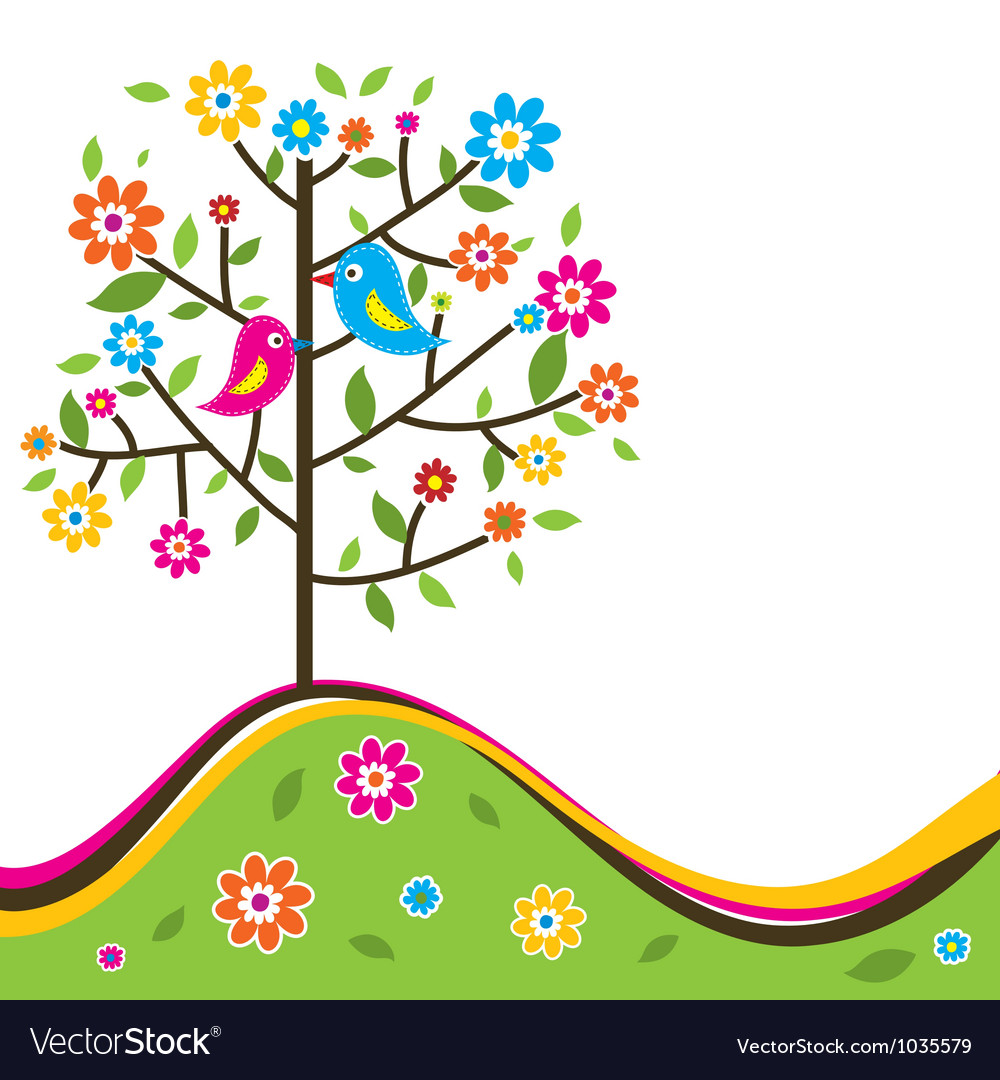 Decorative floral tree vector | Price: 1 Credit (USD $1)