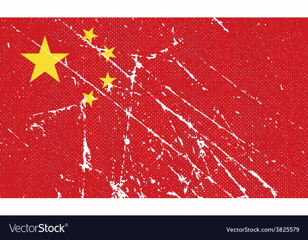Flag of china with old texture vector | Price: 1 Credit (USD $1)