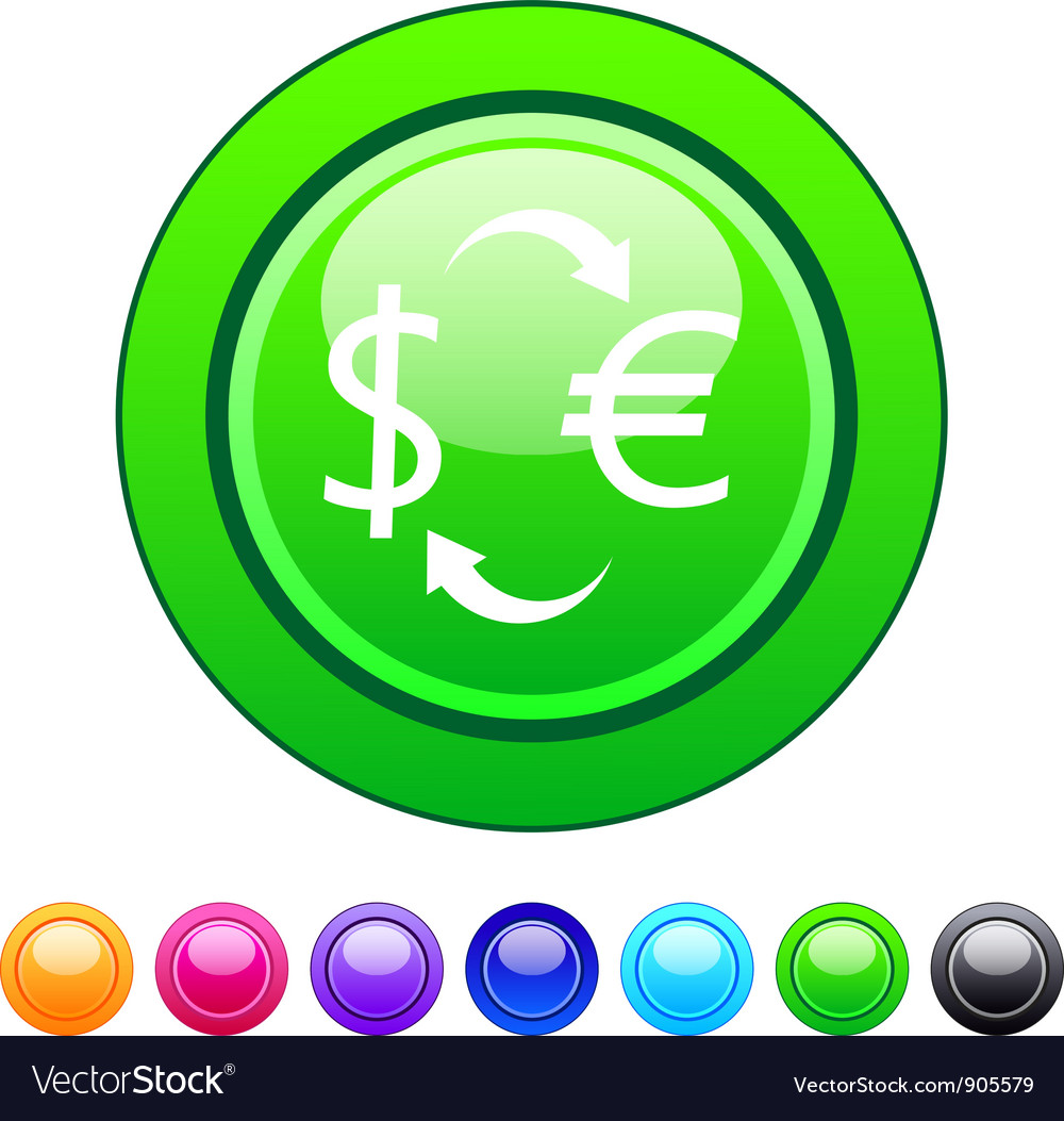 Money exchange circle button vector | Price: 1 Credit (USD $1)