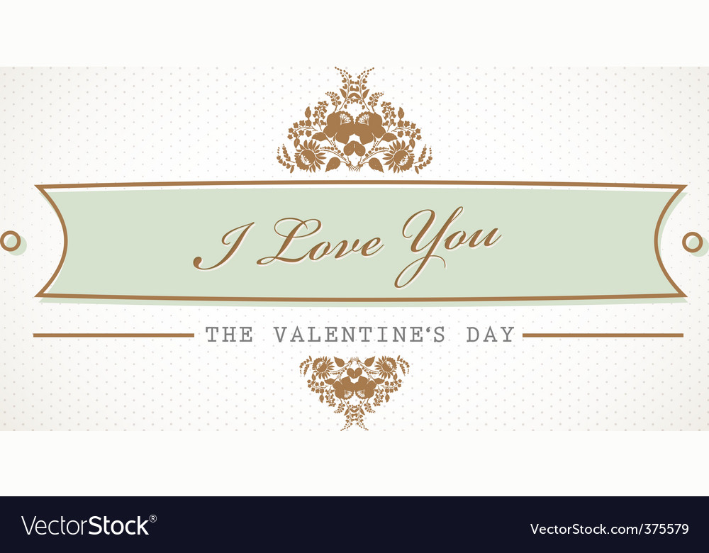 Old valentines vector | Price: 1 Credit (USD $1)