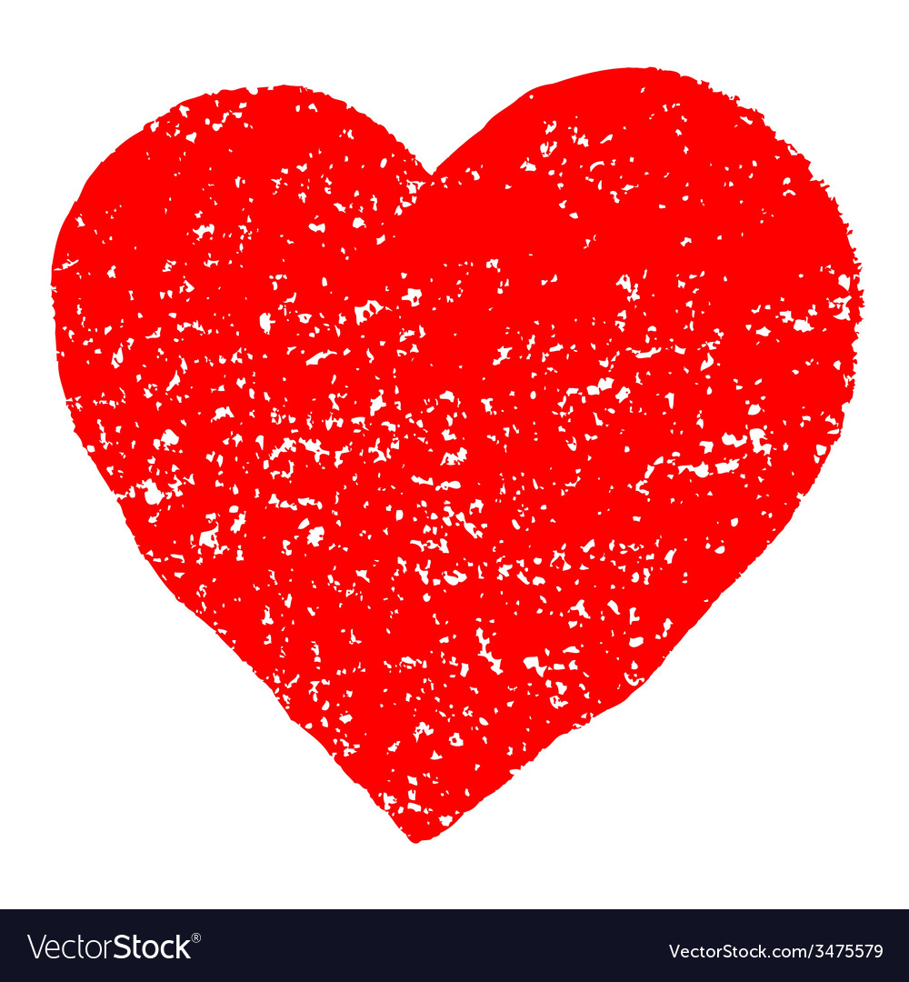 Red valentine heart grunge background vector | Price: 1 Credit (USD $1)