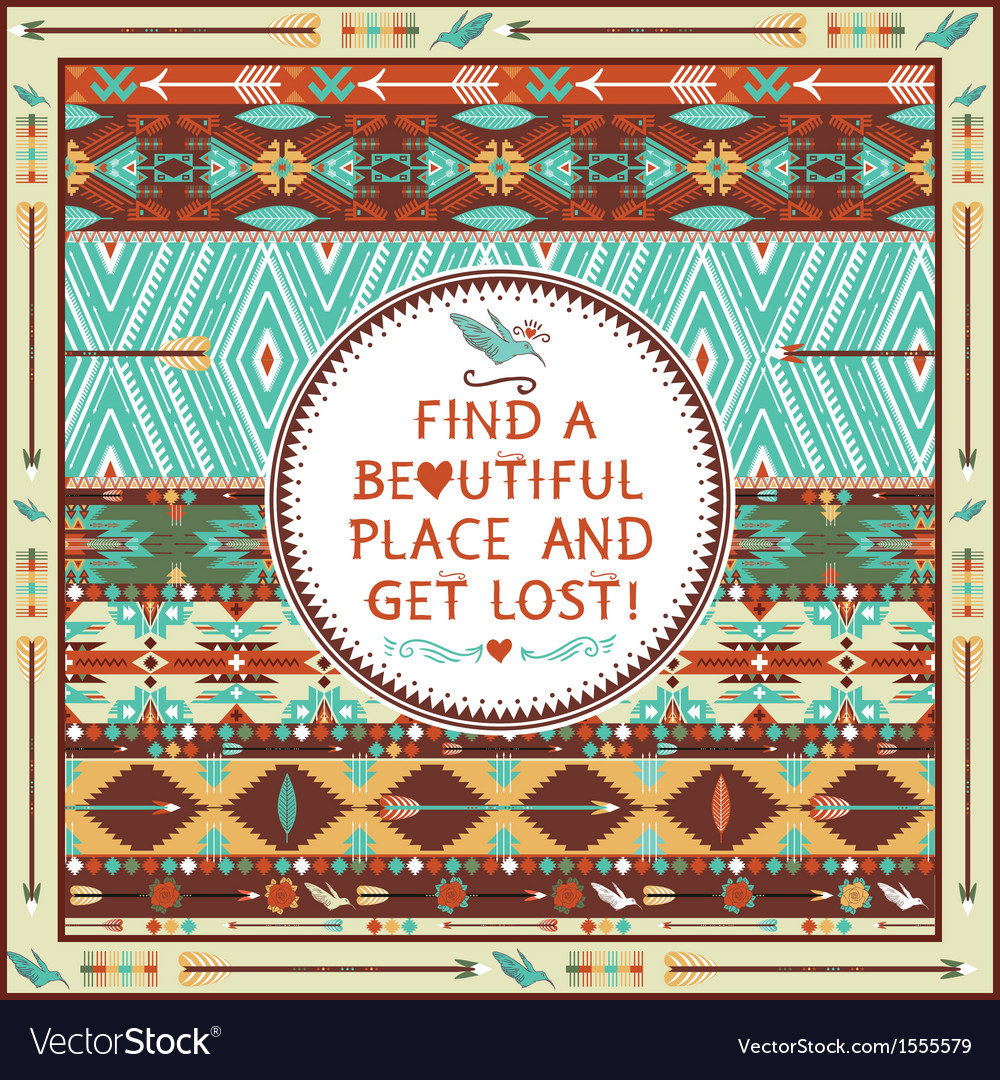Seamless aztec pattern with geometric elements vector | Price: 1 Credit (USD $1)
