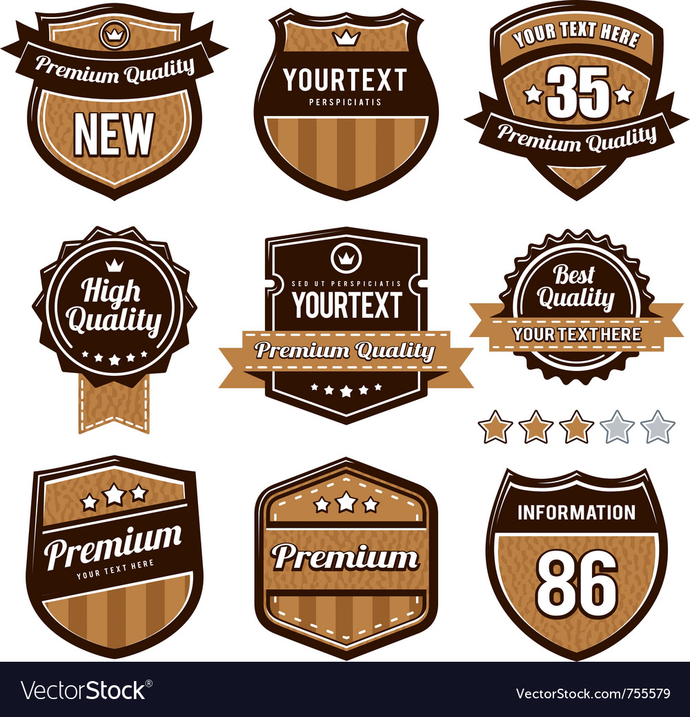 Set of retro badges vector | Price: 1 Credit (USD $1)