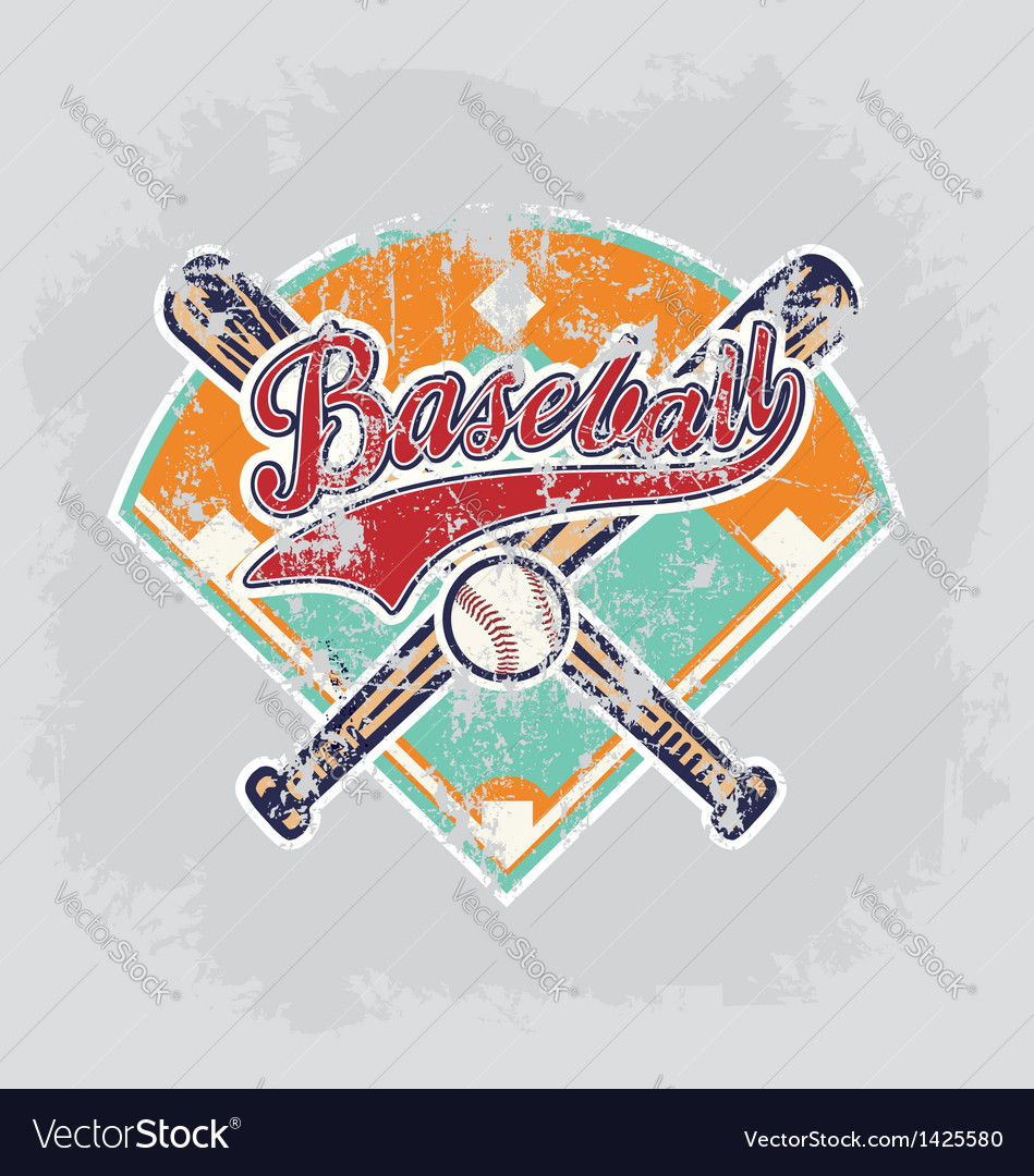 Baseball field vector | Price: 1 Credit (USD $1)