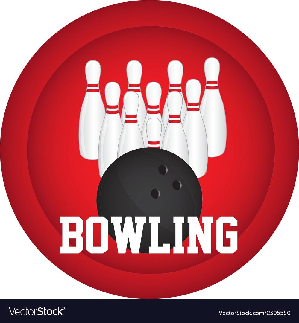 Bowling logo vector | Price: 1 Credit (USD $1)