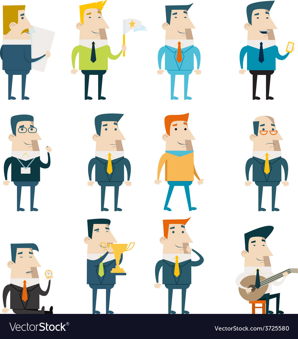 Businessman cartoon characters business and vector | Price: 1 Credit (USD $1)