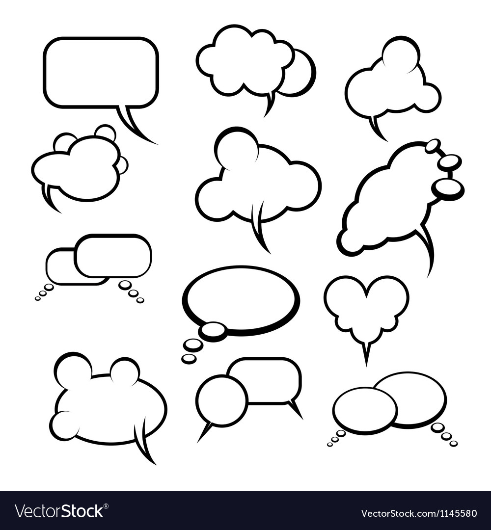 Comics style speech bubbles balloons on background vector | Price: 1 Credit (USD $1)