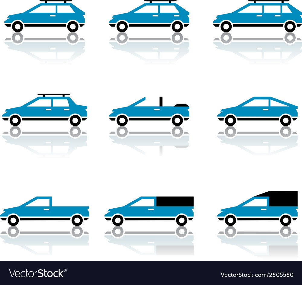 Different car body style icons vector | Price: 1 Credit (USD $1)