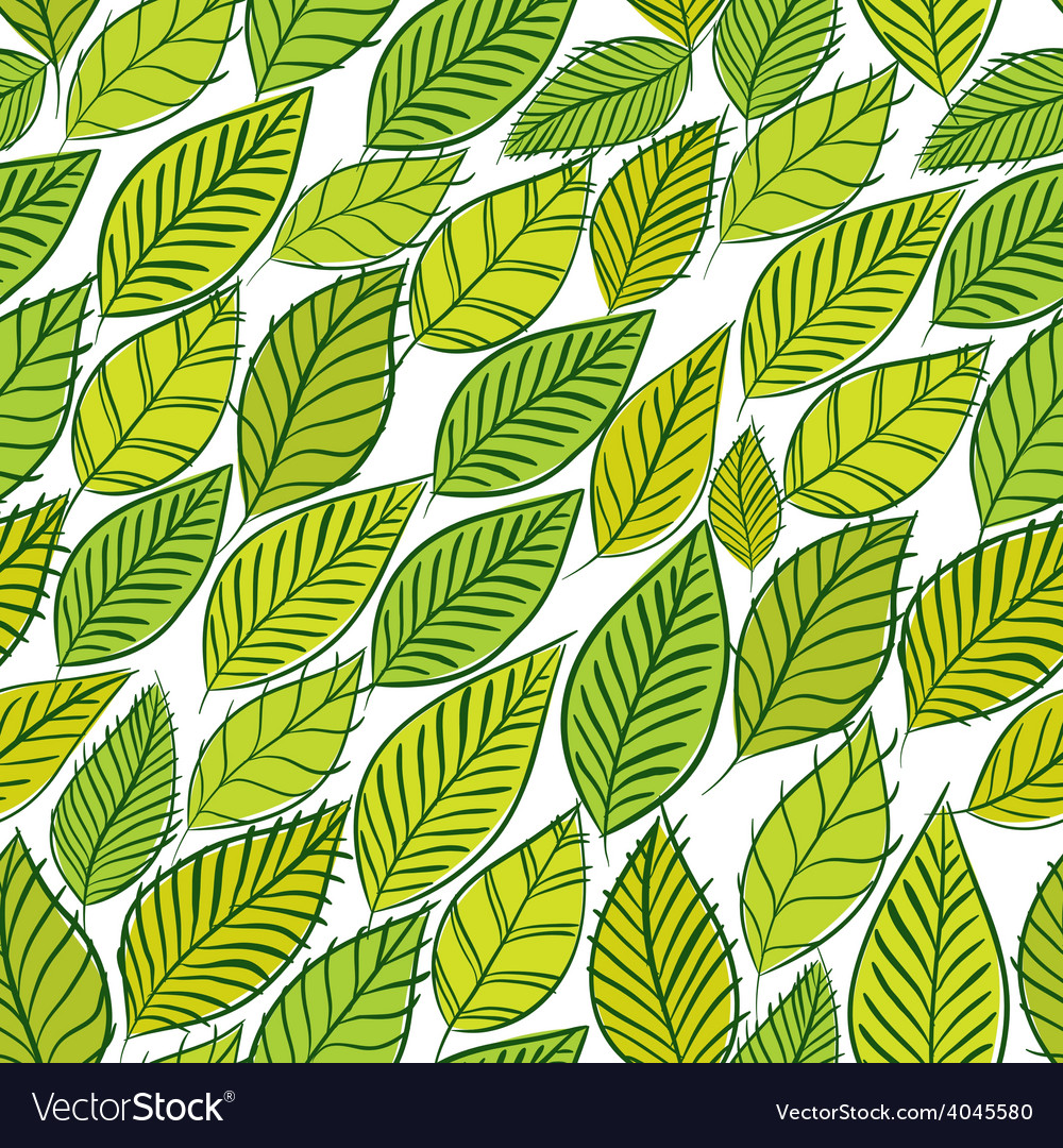 Green leaves seamless background floral seamless vector | Price: 1 Credit (USD $1)
