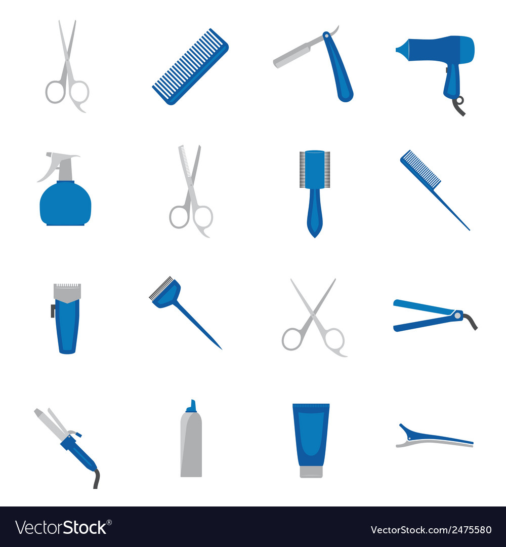 Hairdresser icon flat vector | Price: 1 Credit (USD $1)