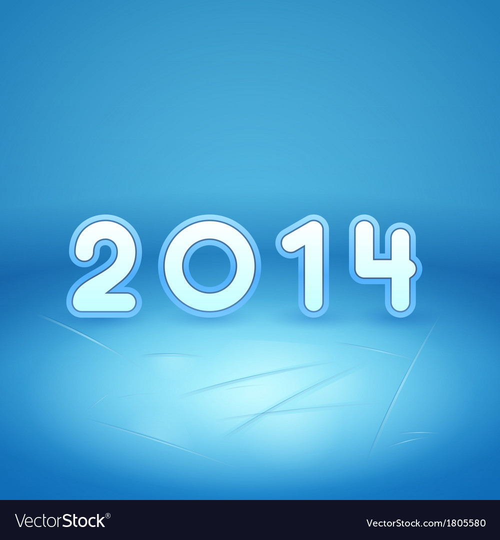 Inscription 2014 on ice and snow vector   Price: 1 Credit (USD $1)