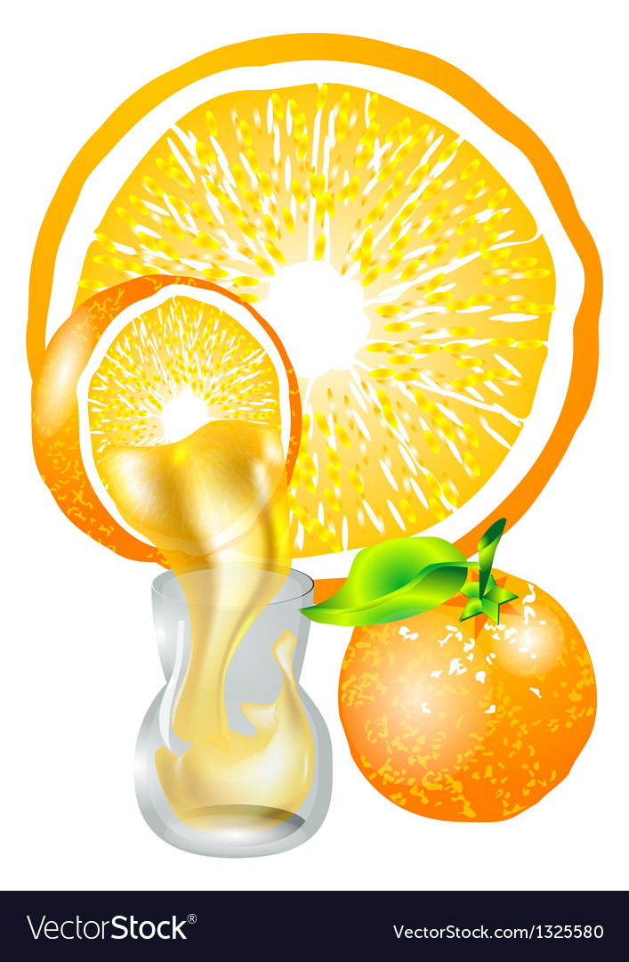 Orange and juice vector | Price: 1 Credit (USD $1)