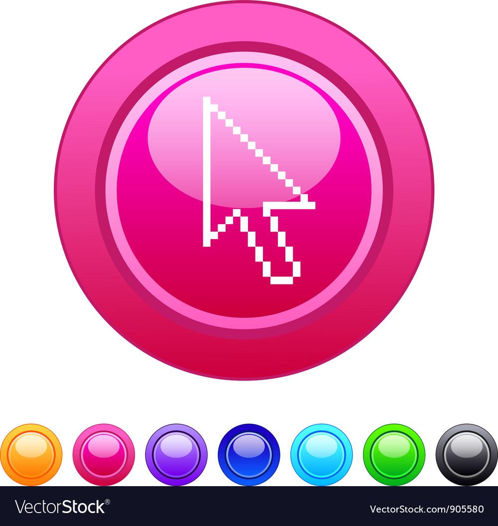 Pixel arrow circle button vector | Price: 1 Credit (USD $1)
