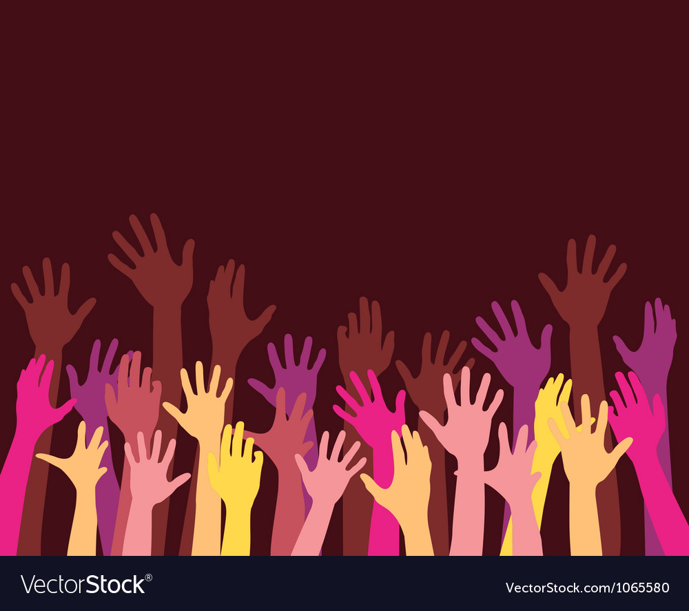 Rising hands vector | Price: 1 Credit (USD $1)