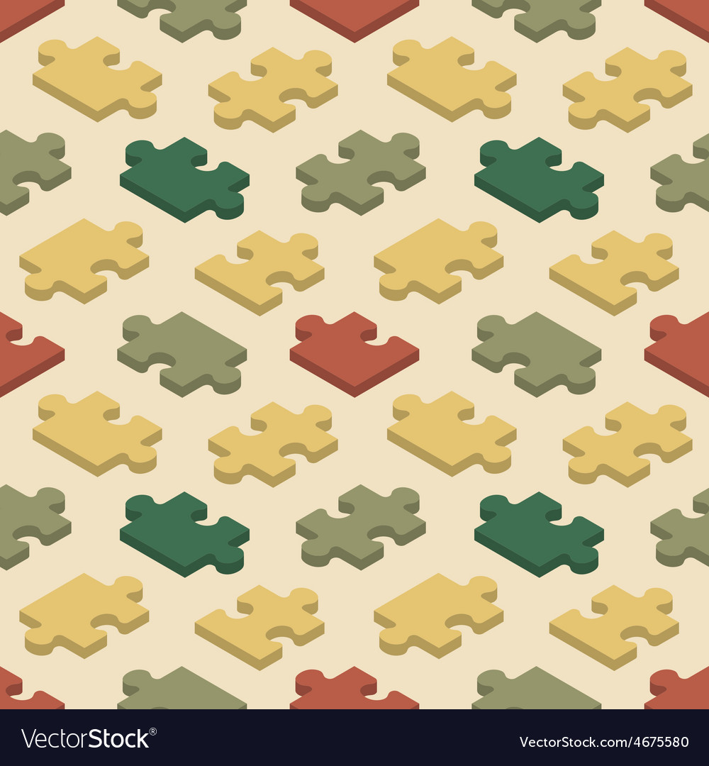 Seamless pattern with the jigsaw puzzle pieces vector | Price: 1 Credit (USD $1)