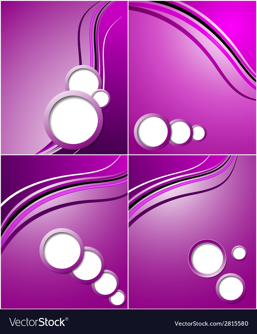 Set of elegant abstract purple background with vector | Price: 1 Credit (USD $1)