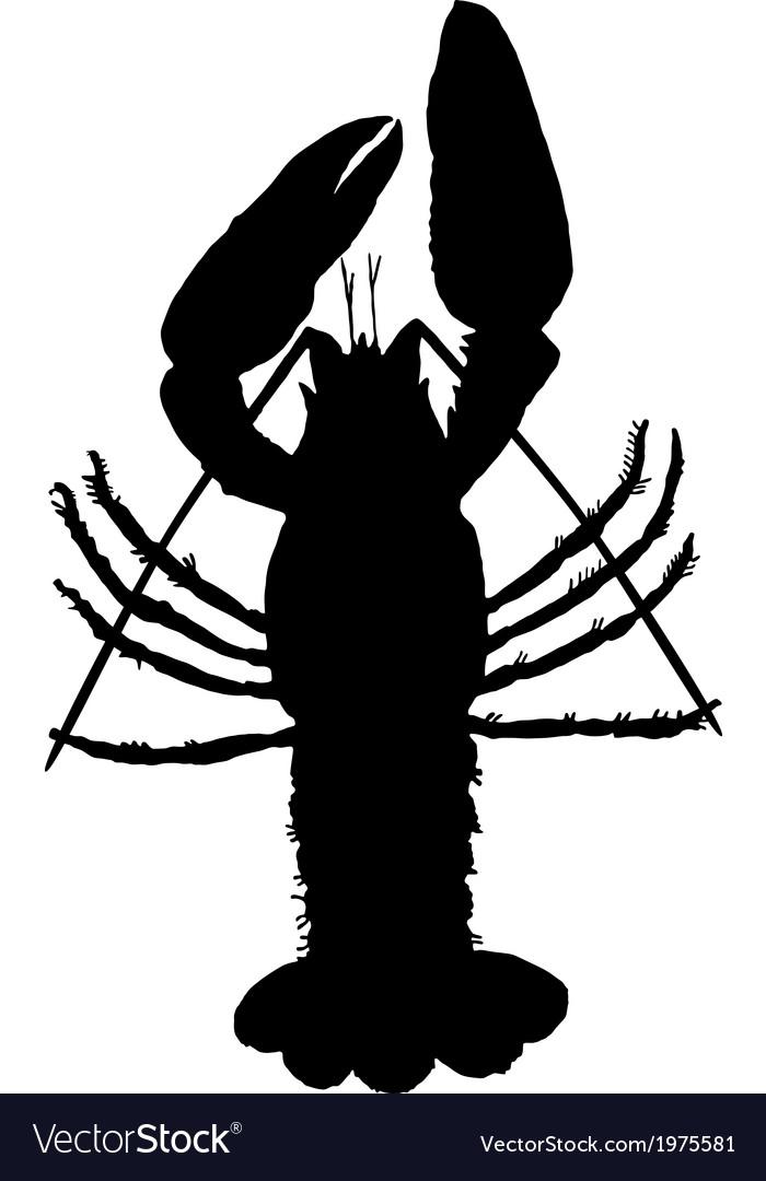 Crawfish silhouette vector | Price: 1 Credit (USD $1)