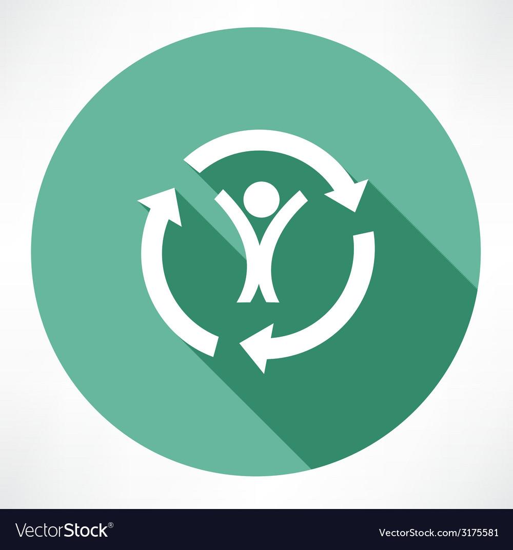 Cycle of a happy man icon vector | Price: 1 Credit (USD $1)
