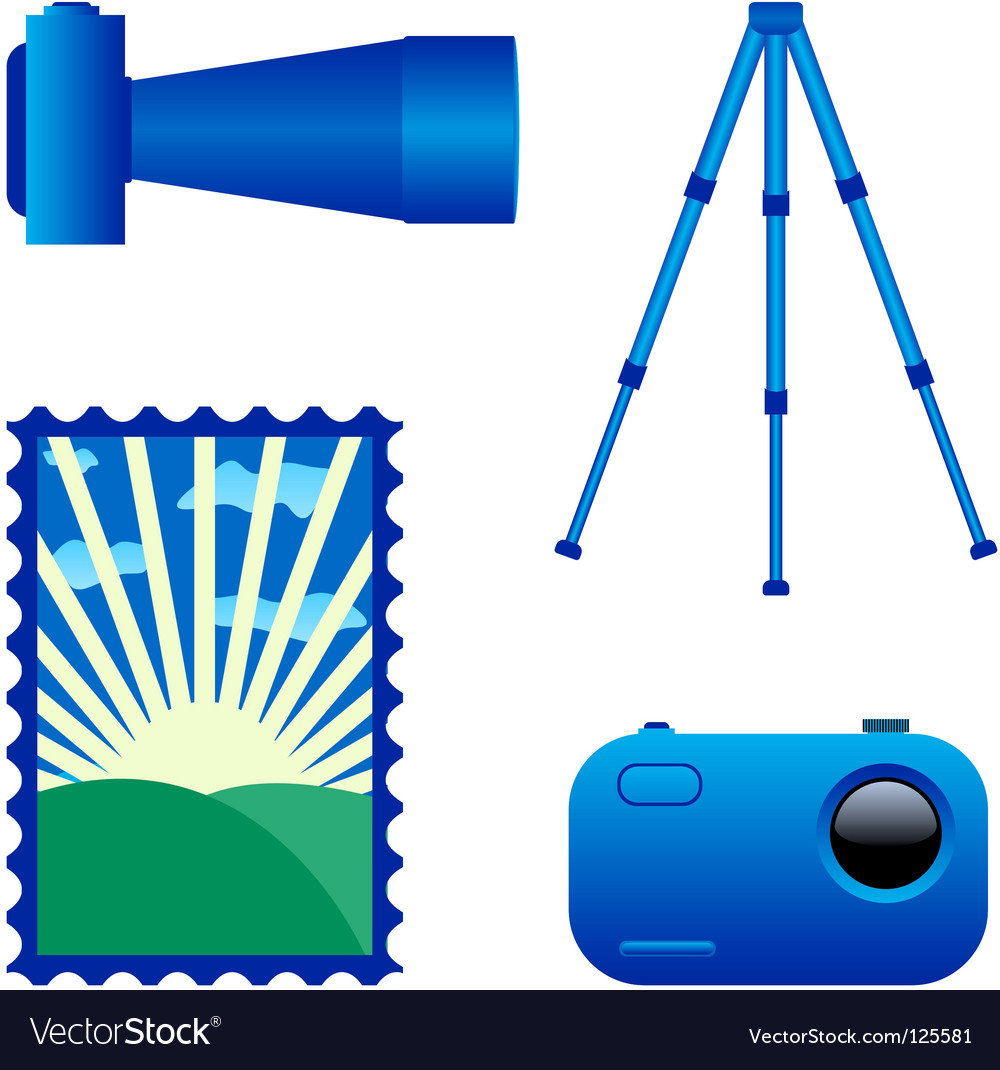 Digital photo camera and tripod vector | Price: 1 Credit (USD $1)