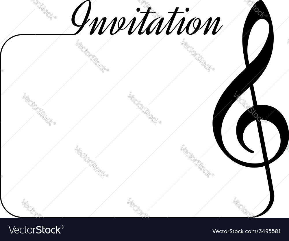 Music invitation vector | Price: 1 Credit (USD $1)