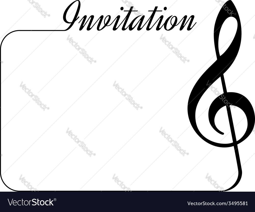 Music invitation vector | Price: 1 Credit (USD $1)