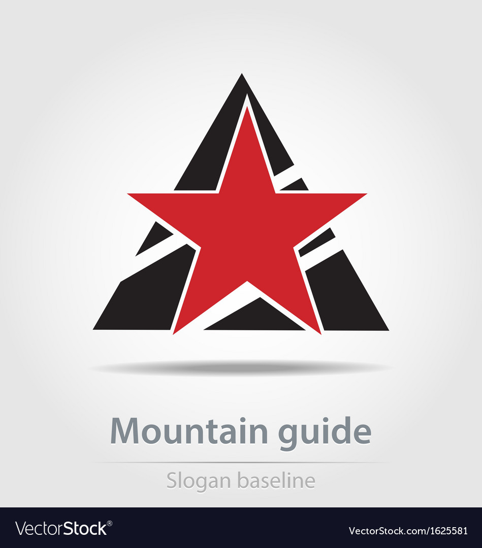 Original mountain guide business icon vector | Price: 1 Credit (USD $1)