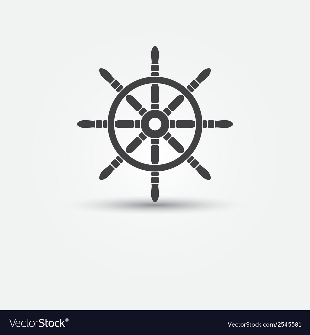 Steering wheel - symbol or icon vector | Price: 1 Credit (USD $1)